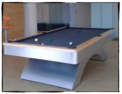 UT game room with billiards table