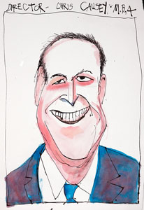 caricature of Christopher Causey