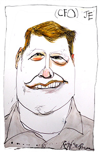 caricature of James Edgemond, CFO