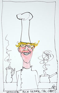 caricature of Richard Giltner