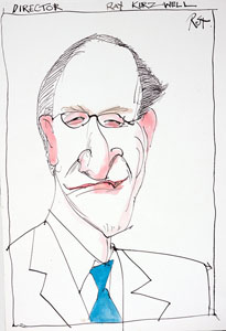 caricature of Ray Kurzweil