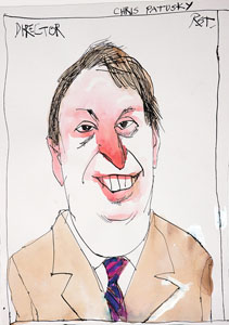 caricature of Christopher Patusky