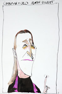 caricature of Martine Rothblatt, CEO