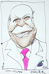 caricature of Louis Sullivan