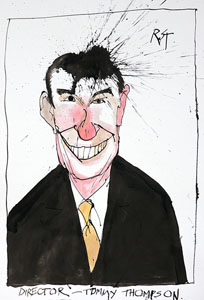 caricature of Tommy G. Thompson